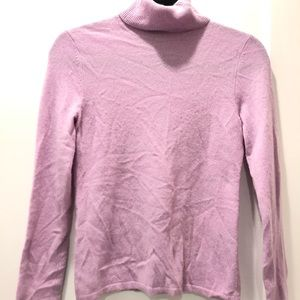 Purple cashmere sweater from Lord and Taylor